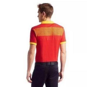 Hugo Boss Polo Shirt Paddy Flag Spain Sz Medium